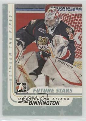 2010 In the Game Between Pipes 19 Jordan Binnington Owen Sound Attack (OHL) Card