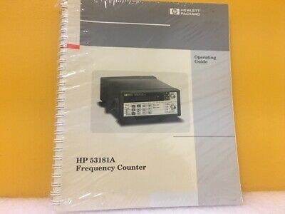 HP / Agilent 53181-90001 53181A Frequency Counter Operating Guide