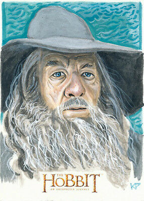 LOTR The Hobbit Desolation Of Smaug Sketch of GANDALF by KRIS PENIX!