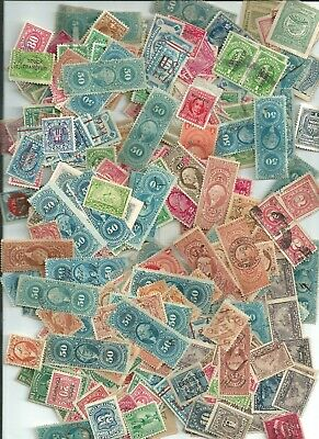 U.S. stamps revenues large collection used lot of 15  different stamps each lot