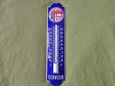 Porcelain Service Wall Thermometer  Shop/Garage Air Temperature Gauges
