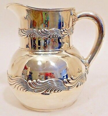 A sterling water pitcher, Wave Edge pattern, Tiffany & Co, c.1907-47