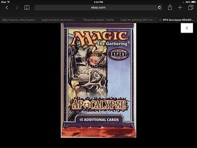 Magic The Gathering Apocalypse Factory Sealed Booster Pack Wotc