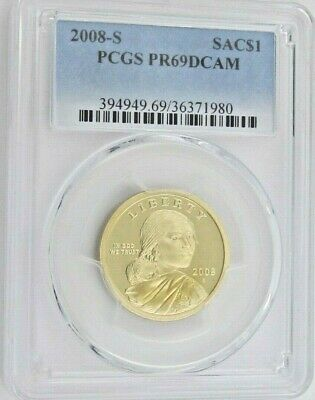 2008 S Proof Sacagawea Native American Dollar - PCGS PR 69DCAM Deep Cameo (1980)