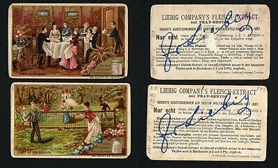 Liebig Trade Cards:S206 Life at Leisure...2 cards
