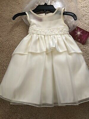 Pearls Diamonds Flower Girl Dress Wedding Pageant Party Toddler Size 2T-11 #258