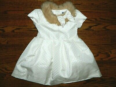 Euc Janie And Jack Gray With White Fur Collar Size 10 Up-To-Date Styling Clothing, Shoes & Accessories