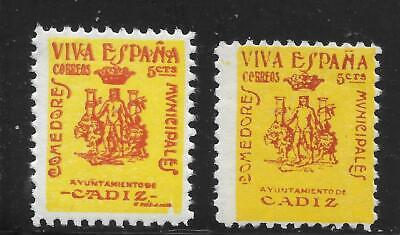 Spain  Cadiz    Galvez 147-148   Sofima  1,3   .mint No Gum   Spanish Civil War