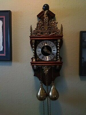 Zaandem Zaanse Atlas Pendulum Wall Clock made in Holland pre-owned