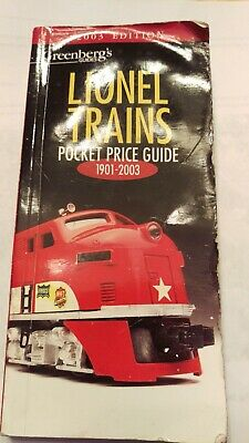 Lionel Trains Pocket Price guide 1901-2003 Greenberg's Guides 2003