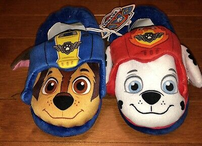 eb9f56430 Paw Patrol Toddler Boy Slippers House Shoes Marshall Chase Size XL(11/12)