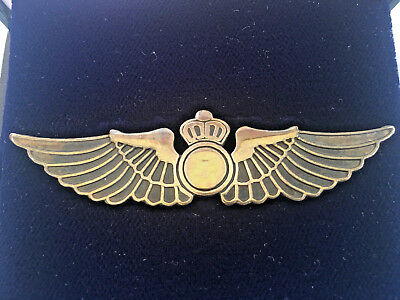 Pilot Silver Wings Beautifully Made With A  Fine 920 Sterling Silver