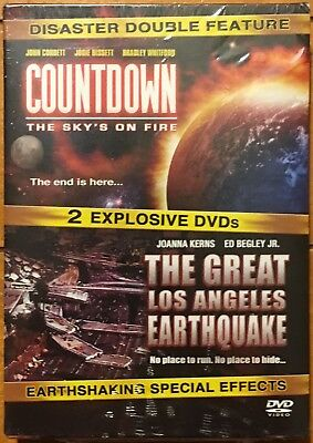 The Great Los Angeles Earthquake / Countdown: The Sky's on Fire (DVD, 2007) New