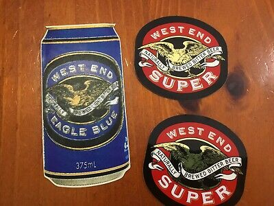 West End Super And West End Blue Beer Stickers