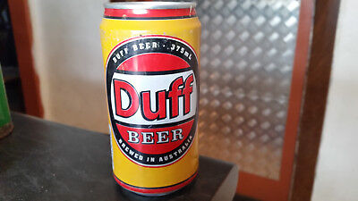 rare vintage duff  beer  can tin simpsons