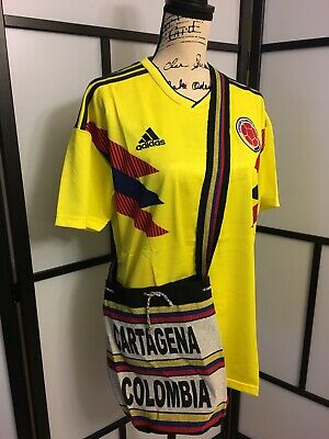 c994c1a8565 Large Adidas 2018 Soccer World Cup Colombia Men s Short Sleeve Jersey Plus  Bag