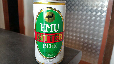 rare vintage tin emu bitter  empty beer can