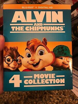 NEW! Alvin and the Chipmunks: 4-Movie Collection BLU-RAY No Digital