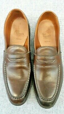 666c991ff42 Allen Edmonds McGraw Brown Leather Penny Loafer Slip-On Shoes Mens Sz 12 B