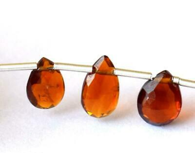 Aa+ Citrine Beads Faceted Pear 5X8 - 5X9 Mm Natural Gemstone - 4 Cts - 5 Pcs#822