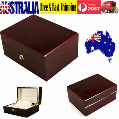 Retro Wooden Cufflink Watch Box Ring Necklace Gift Storage Organizer Holder Case