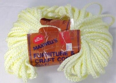 Maxwell's Furniture & Craft Cord braided 5-6mm 325 Ft./108.3 YDS yellow caning