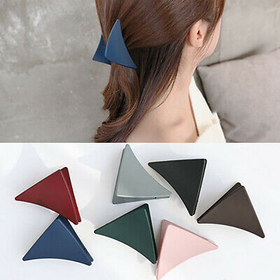 Women Girl Matte Triangle Hair Clip Claw Ponytail Hairpin Headwear Newly