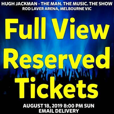 Hugh Jackman   Melbourne   Full View Reserved Tickets   Sun 18 Aug 2019 8Pm
