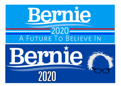 Bernie Sanders 2020 For President Bumper Sticker Two Pack