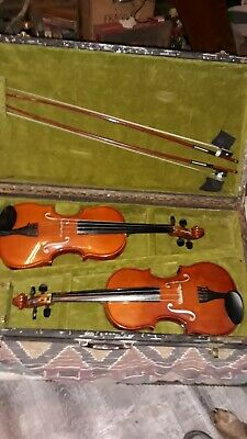 Set of Anton Breton AB-10 4/4 Violin with Bows in Hard Case