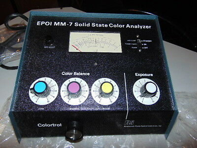 NEW EPOI MM-7 Solid State Color Analyzer & Instructions - Photo  Picture Film