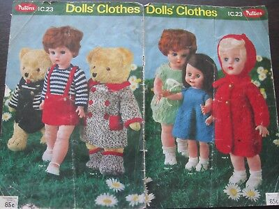 PATONS C23 DOLL CLOTHES PATTERNS - knitting patterns