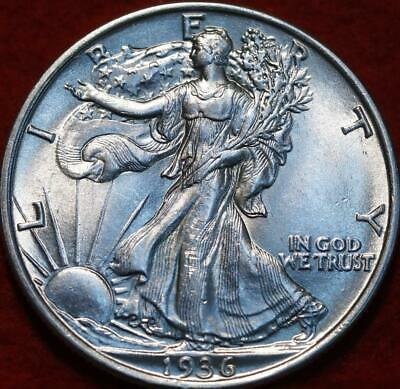 Uncirculated 1936 Philadelphia Mint Silver Walking Liberty Half
