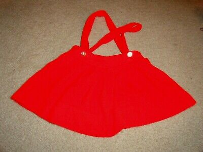 Vintage Red Knit Girl's Skirt - Size 18 - 24 months