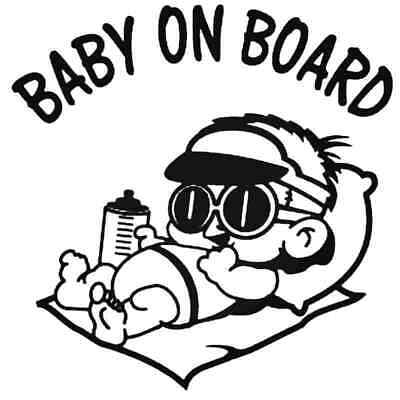 Baby In Car Baby On Board Decal Motorcycle Funny Truck Hollow
