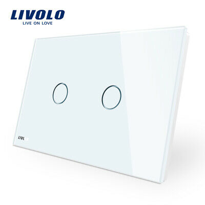 LIVOLO Wall Switch AU Standard Touch LED Light Home 2Gang 1Way Switches