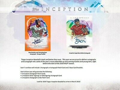Toronto Blue Jays 2019 Topps Inception Baseball 8 Box Half Case Break #8