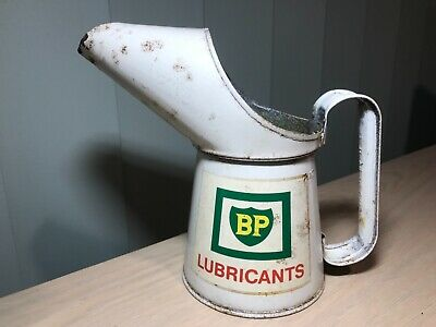 Rare Vintage 1970 One Pint Bp Lubricants Oil Can Pourer