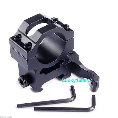 Tactical Ring 25.4mm 1'' Quick Release Picatinny Weaver Rail Rifle Scope Mount