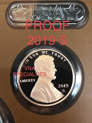 "SENT TODAY2019 ""S"" Lincoln Penny Union Shield Cent, Gem Proof !!"