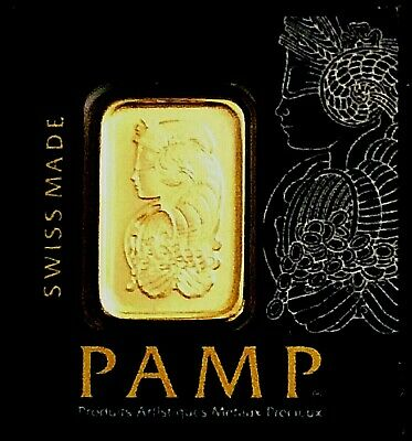 1 Gram Gold Bar - Pamp Suisse - From Multigram+25 (In Assay)