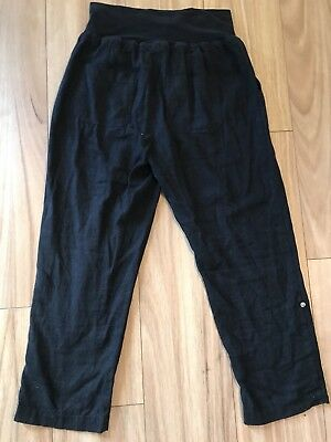 TARGET COLLECTION Size 10 Black Maternity Pants Stretch Straight Leg