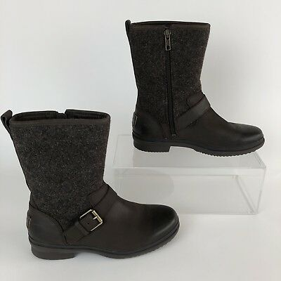 d6b715c9512 UGG (ROBBIE) WATERPROOF leather boots with zipper and leather buckle ...