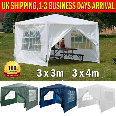 Gazebo for garden party camping festival beer tent marquee White, Blue, Green