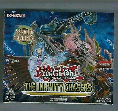 Yugioh Infinity Chasers Booster Box 1st Edition! FACTORY SEALED!!!