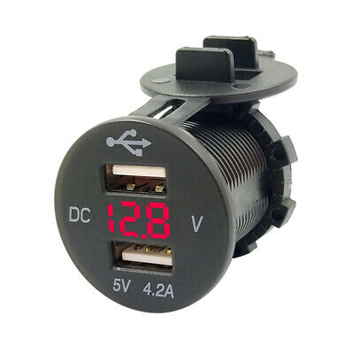 5V 4.2A dual usb port electric car charger mount for smart mobile phone