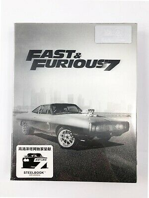 Fast & Furious 7 (Blu-ray SteelBook - Lenticular Slipbox) (HDzeta) [China]