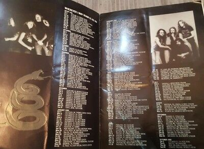 Metallica Official Vintage Tour Programme 1991 Funny Hate Quotes by Axl Rose etc