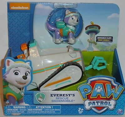 Paw Patrol Everest's Rescue Snowmobile Vehicle & Figure - Brand New Item