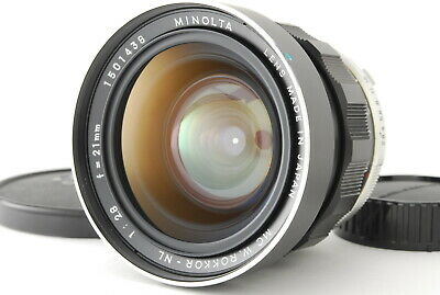 【RARE MINT+++】Minolta MC W.Rokkor NL 21mm f2.8 MF Lens from Japan 253